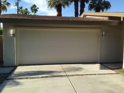 New garage door with new lights.