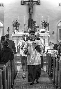 palm sunday st  patricks latinmass recession JD 7 b+w (1 of 1)