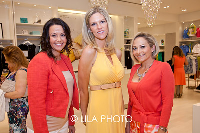 Courtney Stafford, Cindy Crawford, Pam Schanel of Palm Beach Jr. League