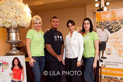 Renata Moulavi, Bryan Moreno, Ali Coba, and Ana Botero with Smart for Life