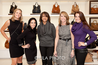 Michael Kors (Left to Right): Julie Parker, Becky Raz, Angela Thompson, Ellen Jeffreys, Amanda Morris ; photography by: Lauren Lieberman / LILA PHOTO