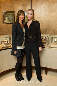 Angela Bednar and Erika Bertin with Gucci.