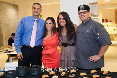 Nickolas Pirrone, Katie Boyd, Paige Parker, Chef Tony Fusco with Del Frisco's Grille