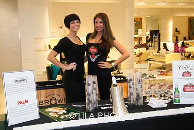 Kristen Mackinnon, Marina Camejo with Stella Artois