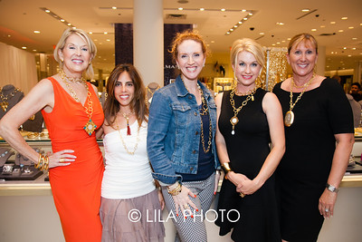 Stephanie Kantis Jewelry and staff with Elaine Cotronakis and Jana Kahn