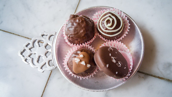 Chocolate bonbons at Timothy Adams Chocolates - Palo Alto, CA