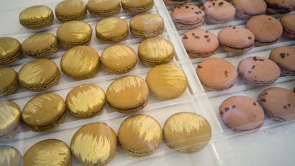 Colorful French macarons at Chantal Guillon in Palo Alto, CA