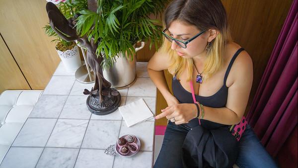 Lovely chocolates at Timothy Adams Chocolate - Palo Alto, CA