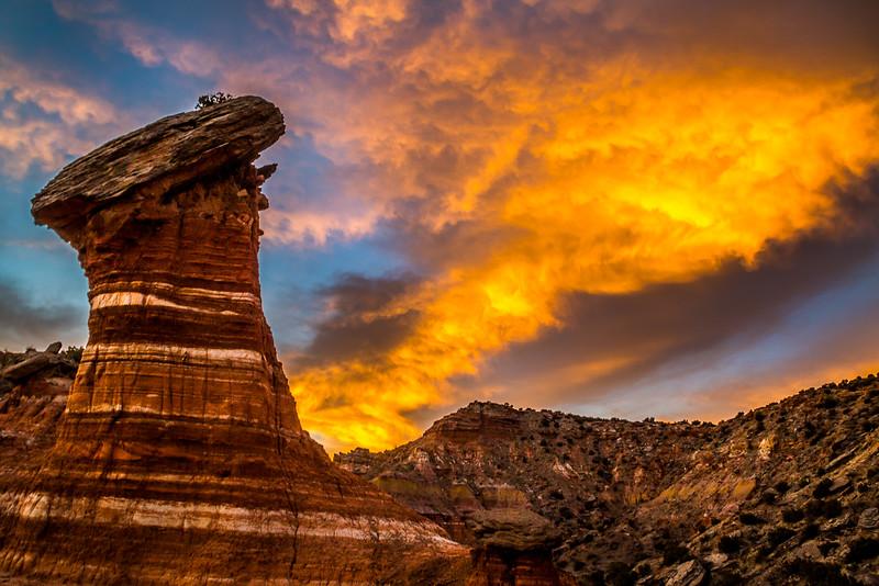 Sky on Fire, Palo Duro Canyon