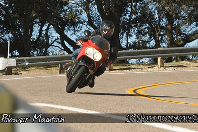 Motorcycle Riders on Palomar Mountain in San Diego, California. Photos were shot from a turnout on South Grade Road.