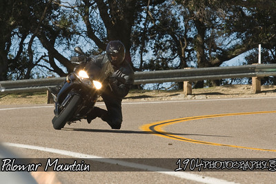 Motorcycle Riders on Palomar Mountain. Photos were shot from a turnout on South Grade Rd.