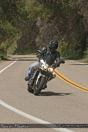Motorcycle Riders on Palomar Mountain on May 3, 2009. Photos were taken from various turns on South Grade Road