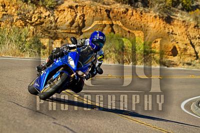 Motorcycles on Hwy 94 in San Diego, California.