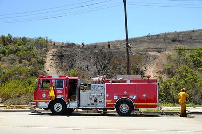 Fire off Indian Peak June 2014