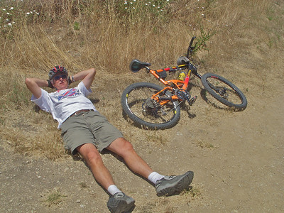 Phew! After climbing up out of the Ford Trail and Zote's cut across to the Burma rd, I was Bloody Knackered!