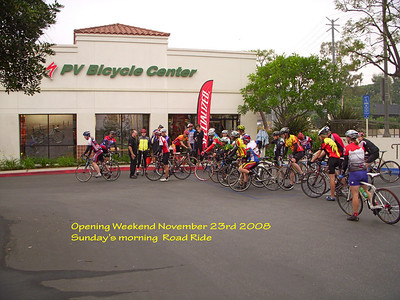 On Sunday morning November 23rd 2008 a road ride was started at the PV Bicycle Center