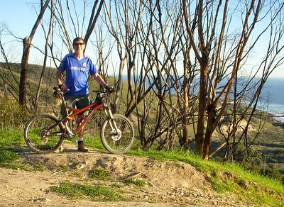 John poses with his bike