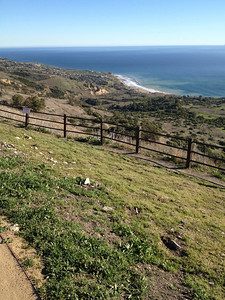 View down on the trails from Del Cerro park