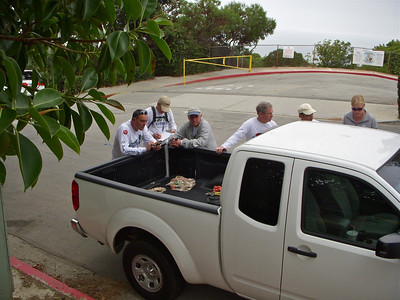 Thursday March 16th, a gathering of CORBA Guys to work on trail Maintenance in RPV Reserve. L to R, Brad, Troy, Bob, Mike, another Mike and Adrienne (from PV Conservancy).