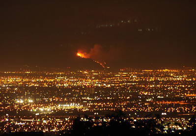 The Madre Fire near AZUSA September 2013 as seen from PV.