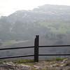 Broken fencing at Del Cerro park