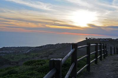 Sunset at Del Cerro park