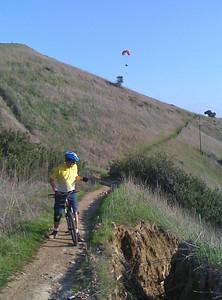 John checks out a large erosion track