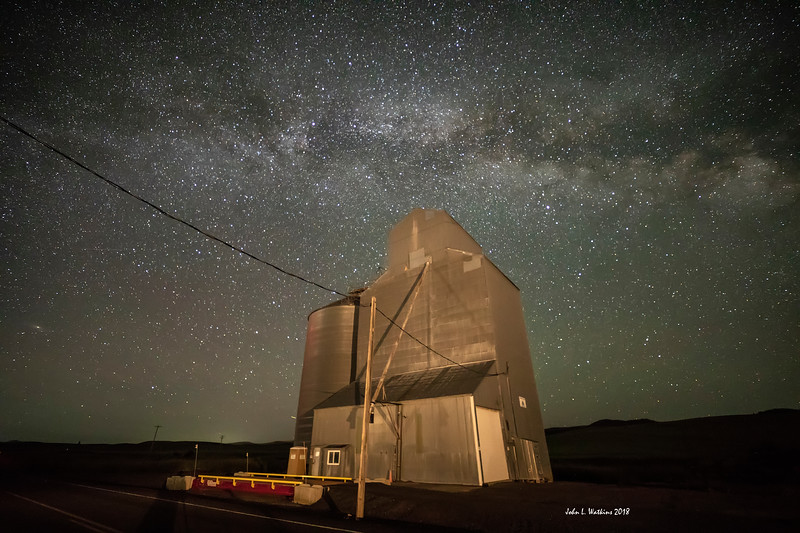 Grain Elevator Under the Milky Way