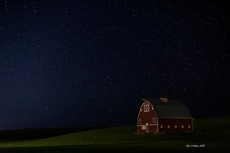 Palouse Country Barn Under the Stars