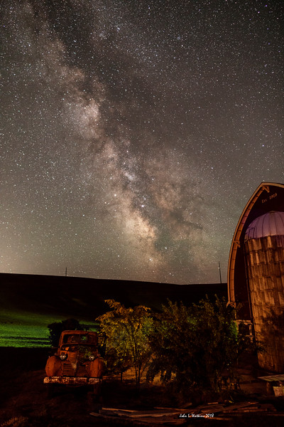 Barn and Truck Under the Milky Way