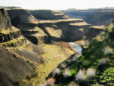 Looking Downstream, Palouse Falls, wA