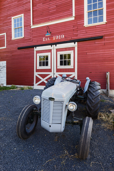 Restored Barn and Old Tractor
