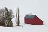 Red Barn in Snowfall