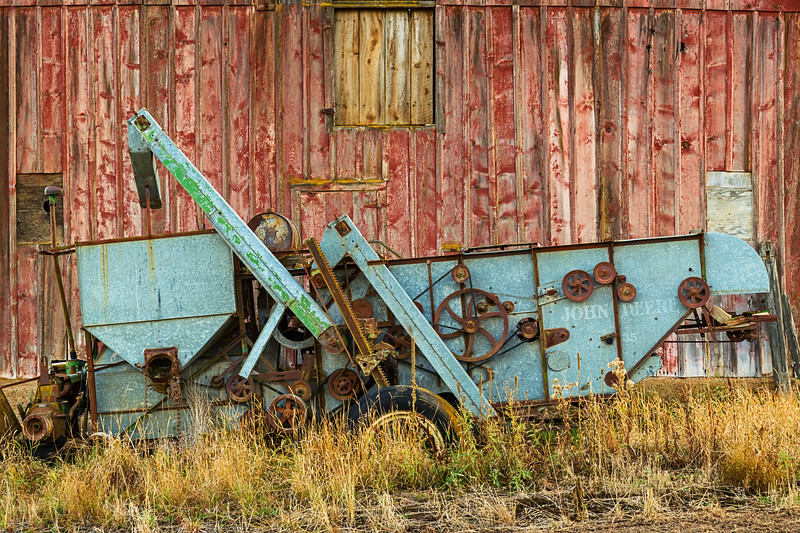 Old John Deere and Barn
