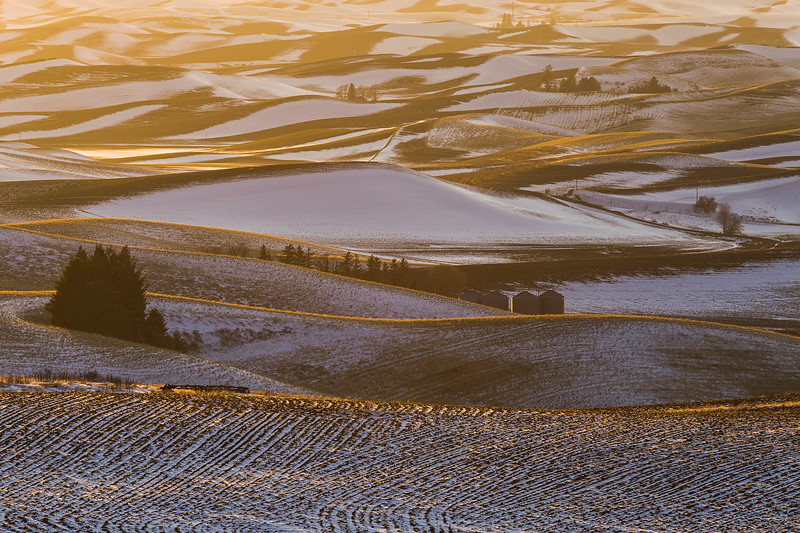 Winter Sunset below Kamiak Butte