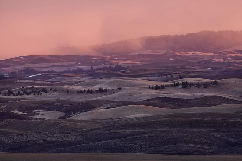 Winter Sunset over Kamiak Butte