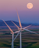 Moonrise over Windmills