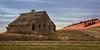 Ladow Barn at Sunset