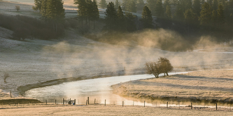 Fog over Palouse River, Early Spring