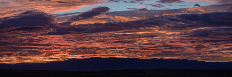 Sunrise over Clearwater Mountains