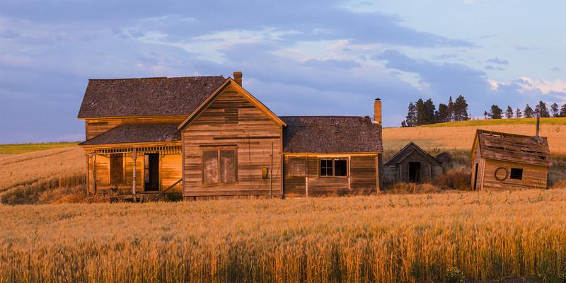 Abandoned House at Sunset, Summer