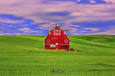 """Red Sentinel,"" Palouse Country Barn, the Palouse, Washington"