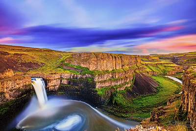 """Paradise Falls,"" Palouse Falls at Sunset, Palouse Falls State Park, Washington"