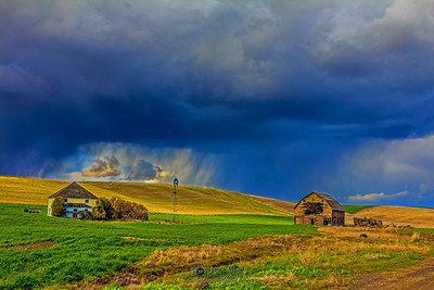 """Storm Break,"" Abandoned Farm Squall Line, the Palouse, Washington"