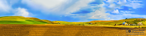 Rolling Hills and the Farm, Palouse, Washington