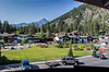 View from our window at the Best Western Icicle Inn in Leavenworth, WA.