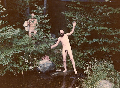 Skinny-dipping in the stream at Horace's