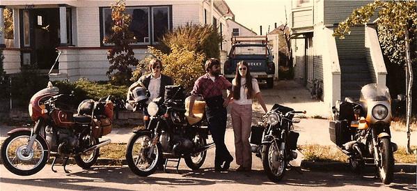 Burr, Kari and Gail the morning we left Berkeley