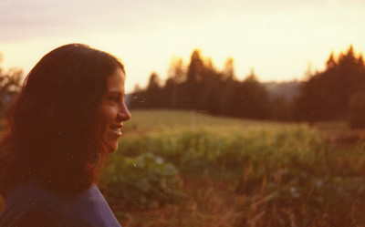 Deena at sunset in Oregon
