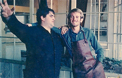 Chapelle's sandal shoppe on Bridgeway, Sausalito.  Jeff was the manager; I was the chief sandalmaker - 1966